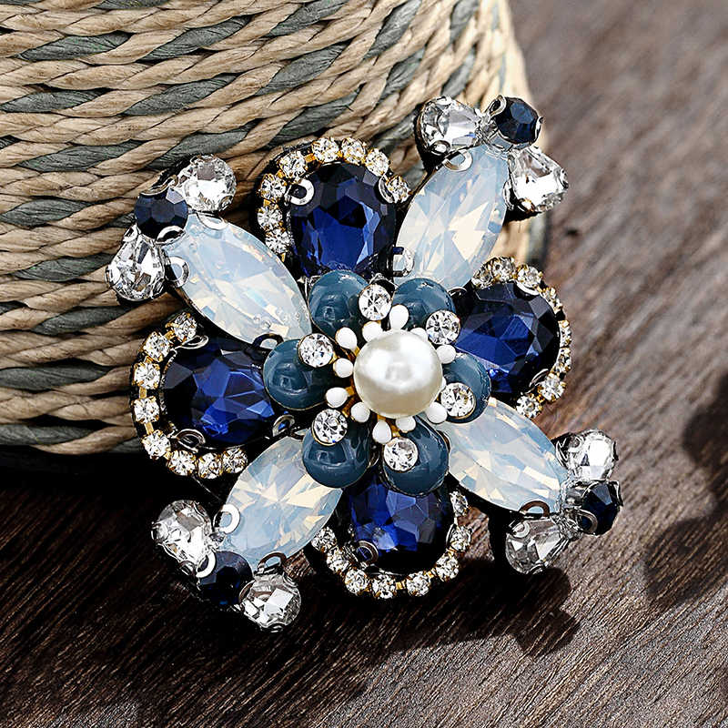 New Vintage rhinestone di cristallo d'imitazione della perla delle signore spille pin moda di alta-end accessori di abbigliamento pin donna Festa di nozze