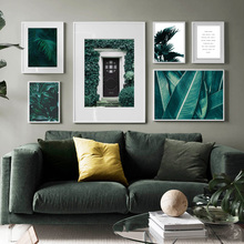 Green  Plant Iron Tree Palm Leaf Quote Grass Wall Art Canvas Painting Nordic Posters And Prints Pictures For Living Room