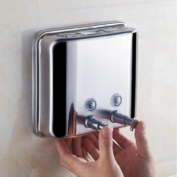 New Liquid Soap Dispenser 1500Ml 304 Stainless Steel Wall-Mounted Bathroom Liquid Hand Sanitizer Dispenser Kitchen