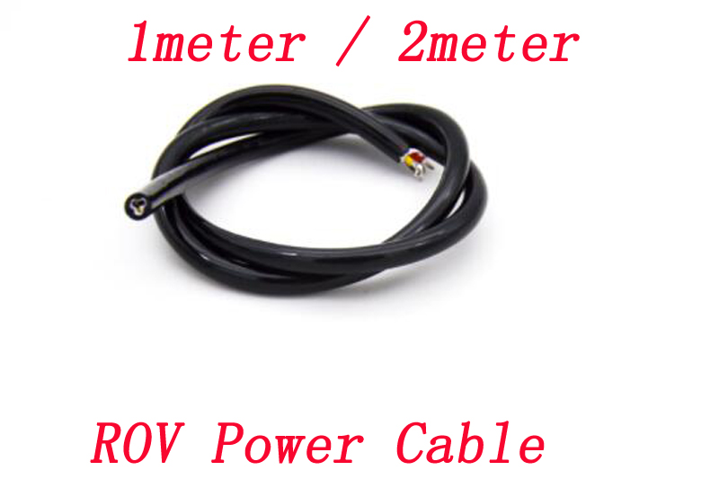 1meter/2meter ROV Underwater Thruster Power Cable 3 Cores Buoyancy Cable Watertight Connection Line for AUV DIY RC Vehicle|Parts & Accessories| |  - title=