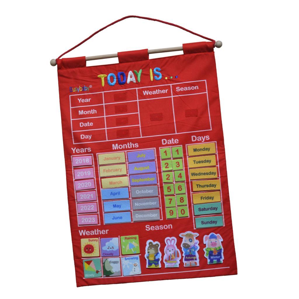 Weather Calendar 2022.Calendar Wall Chart For Kids Weather Season Date Week Months Learning Educational Aids For Preschool Kindergarten Classroom Calendar Time Aliexpress