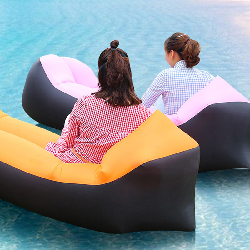 Citop Adult Outdoor Beach Recliner Fast Folding Camping Sleeping Waterproof Inflatable Sofa Lazy Bag Air Bed Cycle 200.70 cm