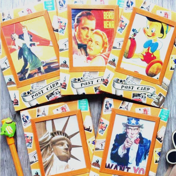 32pcs/pack Vintage Film/building/posters/cartoon Series Postcards Collection Or Decoration Card Greeting Cards