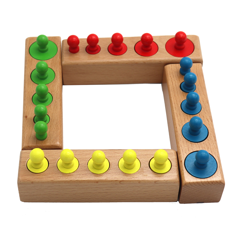 Головоломка Монтессори с цилиндрической розеткой, игрушка для обучения развитию ребенка, дошкольные Развивающие деревянные игрушки для детей 4