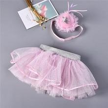 Baby Girls Skirts Birthday Headband Summer Pink Infant TUTU Skirts