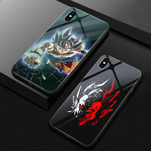 ciciber Dragon Ball Tempered Glass Phone Case for iPhone 11 Pro Max 7 8 6 6S Plus Back Shell for iPhone XR X XS Max Funda Coque ciciber dragon ball phone case for iphone 11 pro max xr x xs max tempered glass cover cases for iphone 7 8 6 6s plus funda coque