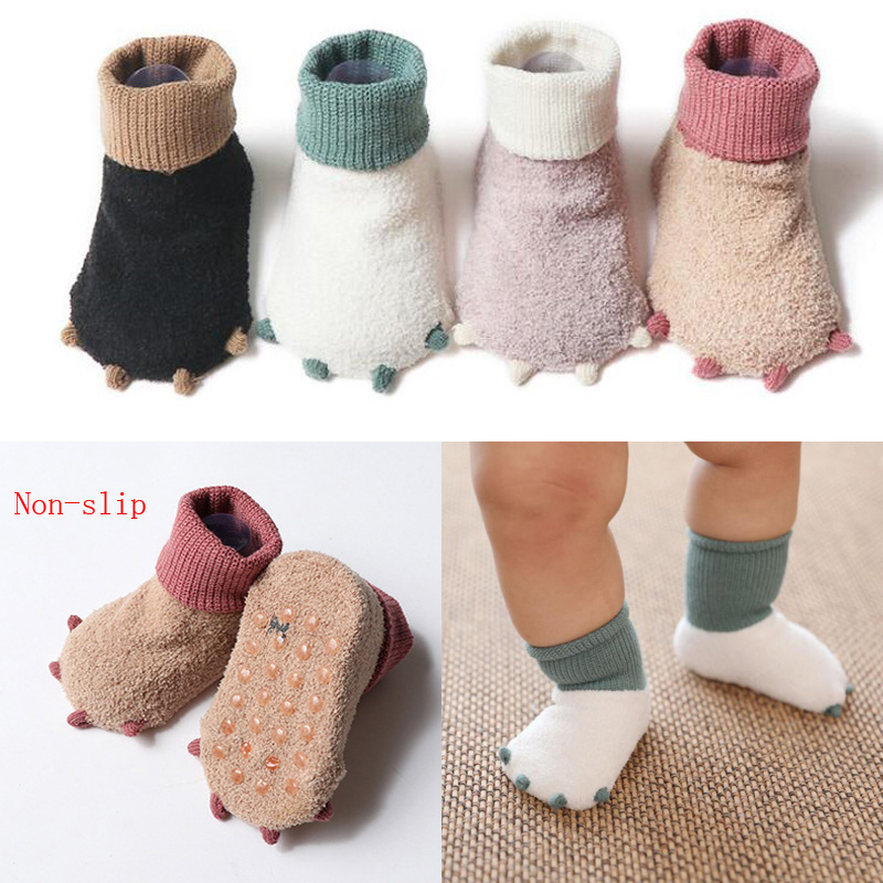 2019 New Cute Little Paws Autumn And Winter Newborn Socks Casual Warm Baby Foot Sock