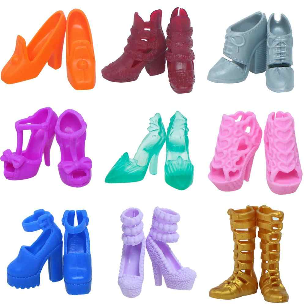 4Pairs Fashion 1:12 Boots Casual High Heels Shoes for Doll Accessories Toys