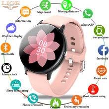 Lige mulher telefone bluetooth relógio inteligente mulher à prova dwaterproof água esportes fitness relógio de saúde rastreador 2020 novo jogador de música smartwatch