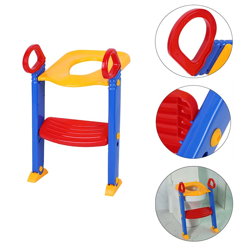 Portable Baby Kids Training Toilet Potty Trainer Seat Chair Toddler Ladder Step Up Stool Urinal Potty Training Seat Children