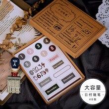 10 대/몫 Kawaii 편지지 스티커 Jinshenianhua 시리즈 장식 모바일 스티커 Scrapbooking DIY 공예 스티커