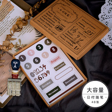 10 set/lot Kawaii Stationery Stickers Jinshenianhua series Decorative Mobile Stickers Scrapbooking DIY Craft Stickers