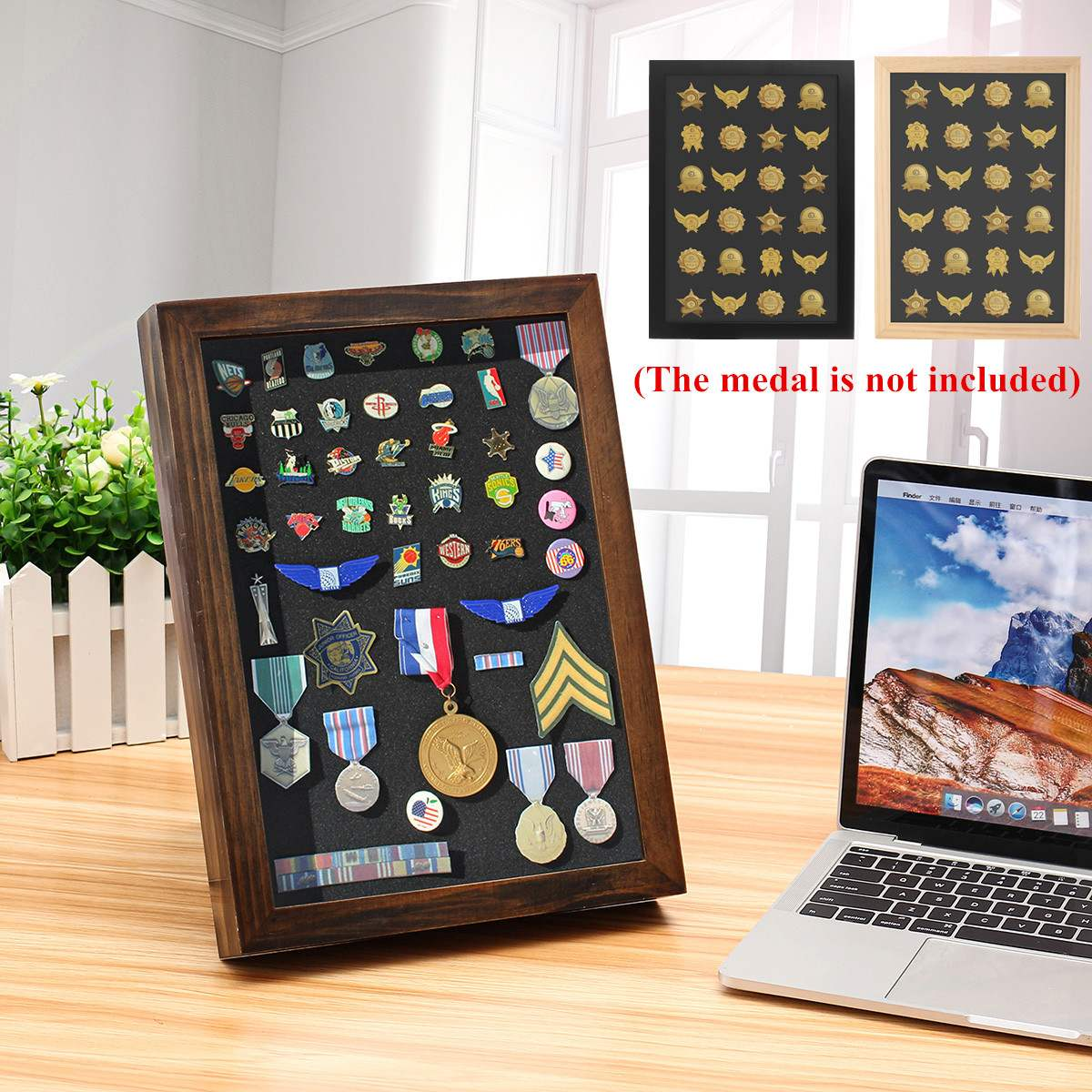 Collectible Medal Holder Display Rack Challenge Medal Coin Case Collector Wood Storage Shelves Gift Coin Display Stand
