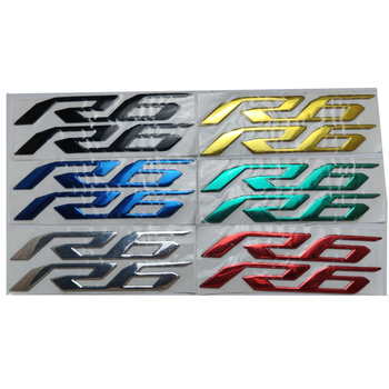 Motorcycle 3D Emblem Badge Decal Tank Wheel R6 Sticker Soft Reflective For Yamaha YZF-R6 YZFR6 YZF