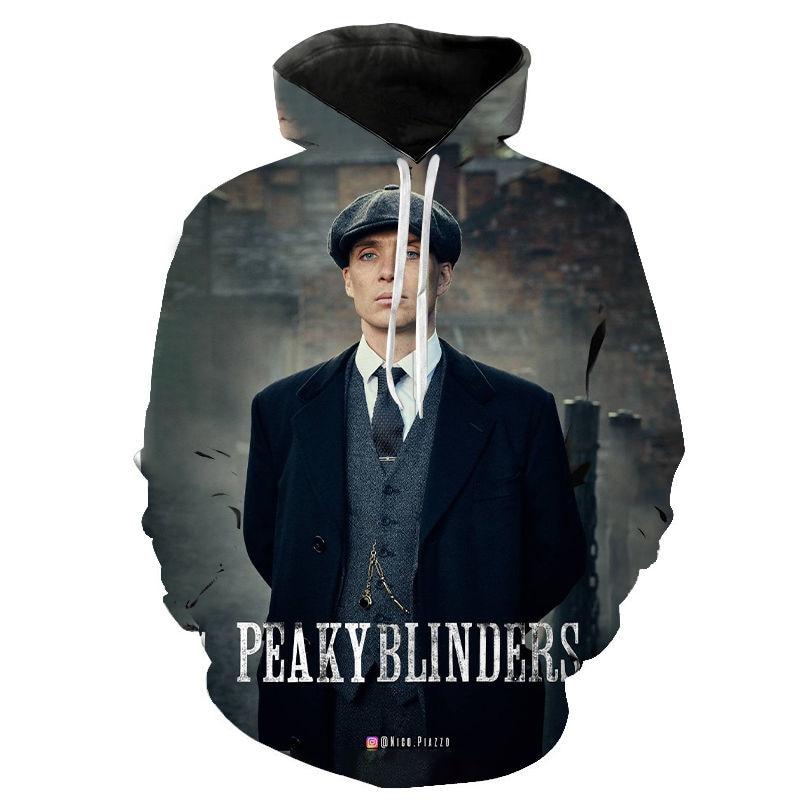 Peaky Blinder Hoodie Men Women 3D Printed Hoodies Fashion Harajuku Pullover Cool Hooded Streetwear Sweatshirt Pullover
