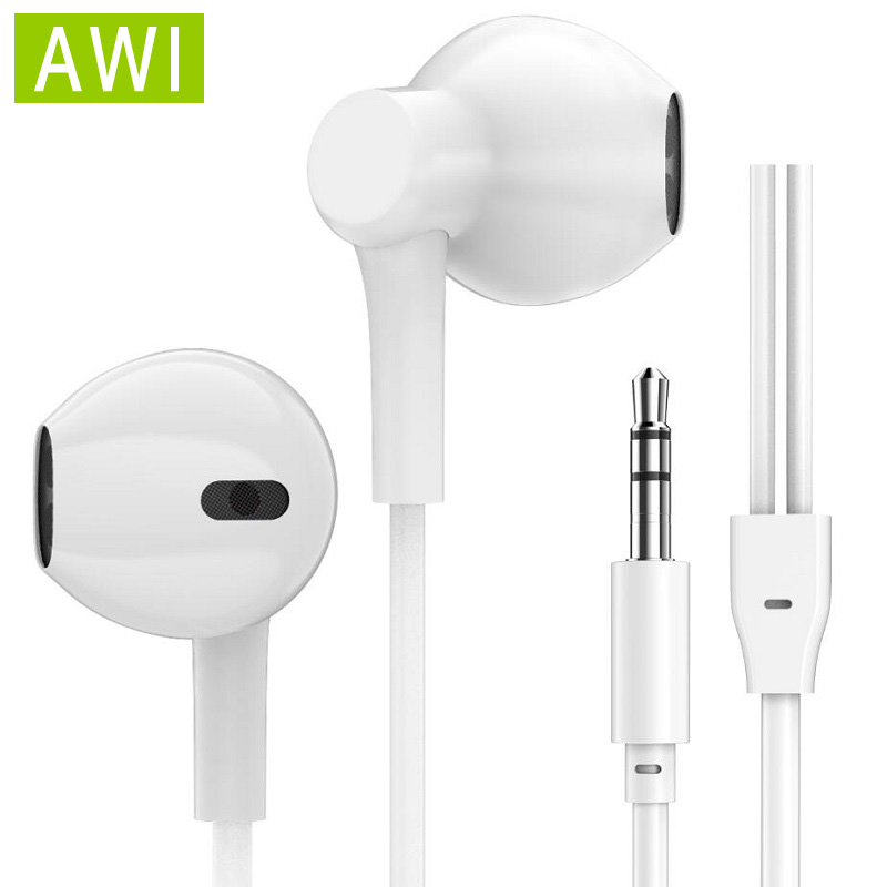 AWI Stereo Bass Sound Earphone Sport <font><b>Headphone</b></font> 3.5mm Wired Headset For Phones iPhone Samsung Xiaomi Ear Phone Gaming Earbuds