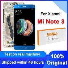 """100% מקורי 5.5 """"החלפת תצוגת Xiaomi Mi הערה 3 LCD מסך מגע Digitizer עצרת עבור Xiaomi Mi Note3 MCE8 LCD"""