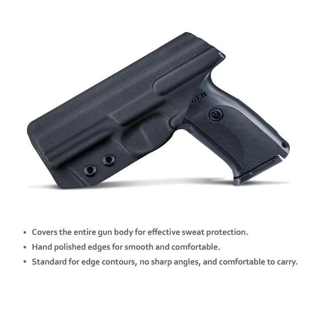 B.B.F Make IWB Kydex Gun Holster for Ruger SR9 / SR9C / SR40 / SR40C Pistol - Inside Waistband Concealed Carry Case 3