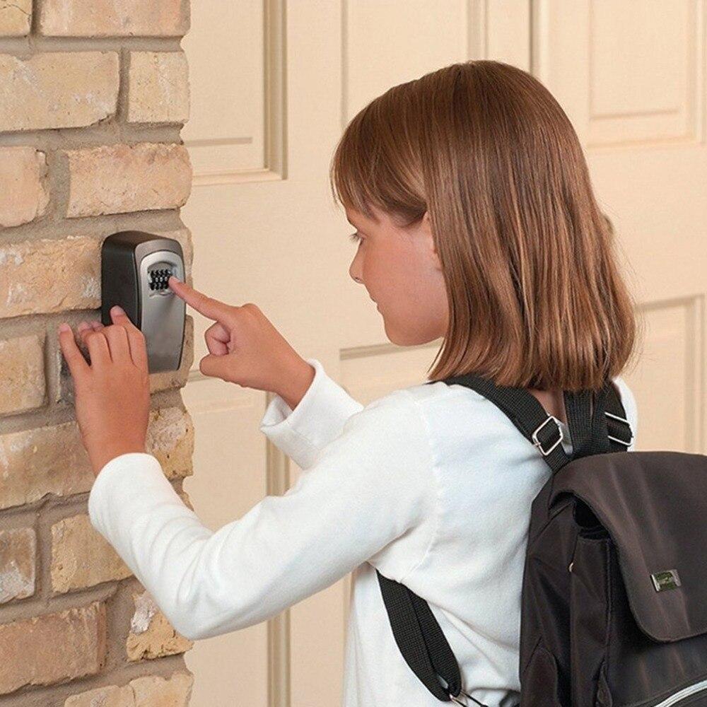 Настенный кодовый ключ, коробка с замком, 4 цифры, комбинированный пароль, органайзер для ключей, коробка для домашней безопасности, сплав