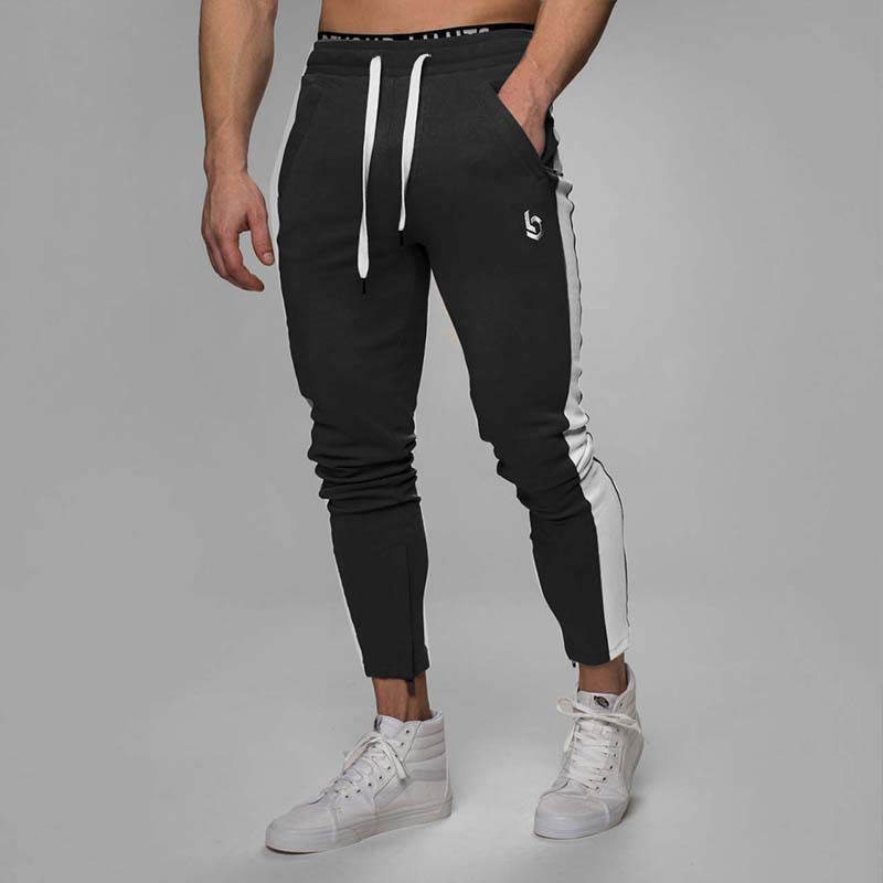 Autumn Mens Joggers Casual Pants Fitness Men Sportswear Trousers Bottoms Skinny Sweatpants Trousers Gyms Jogger Track Pants