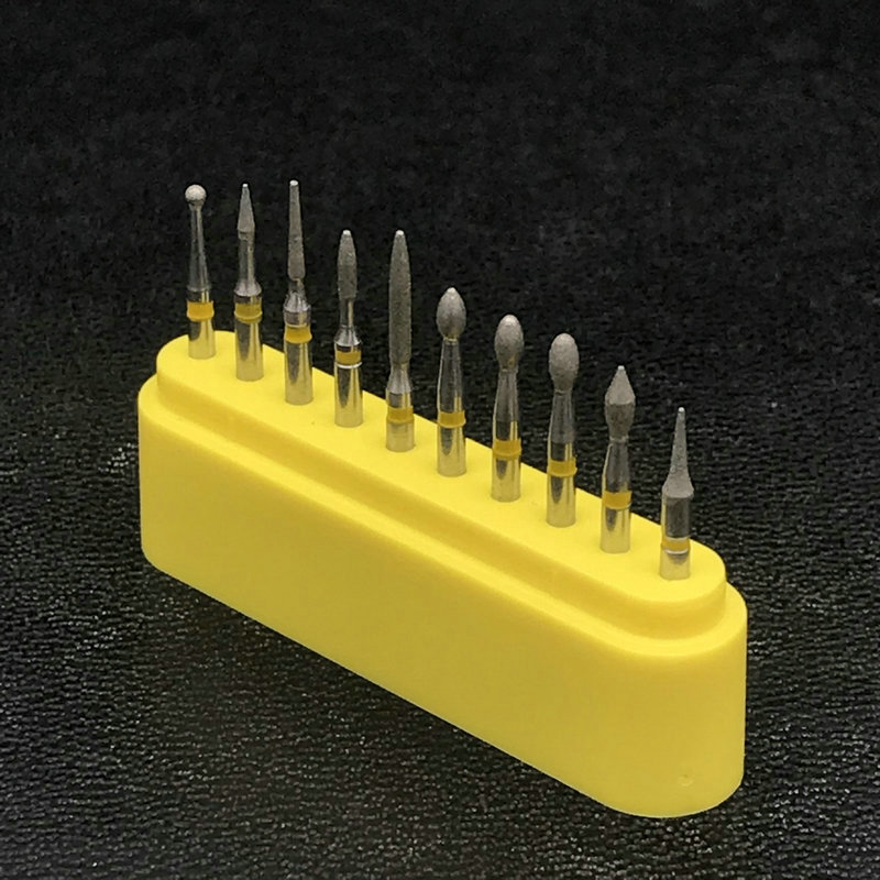 10pcs/Set  Dental Lab Diamond Drill Burs Burrs Fissure Cross Cut High Speed FG-117