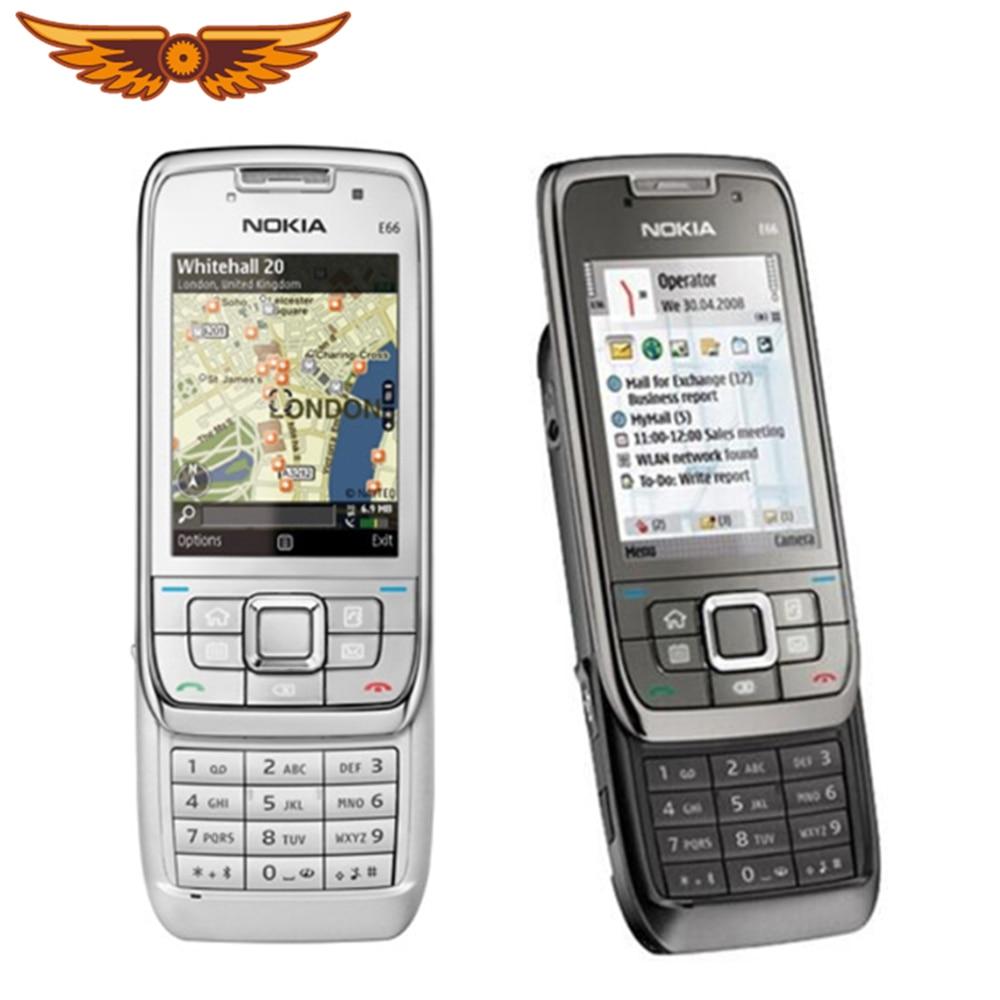 Добавить в «Мои желания» оригинальный Nokia E66 разблокированный 3G мобильный телефон WI-FI, GPS, Bluetooth (голубой зуб) Русская клавиатура слайдер теле...