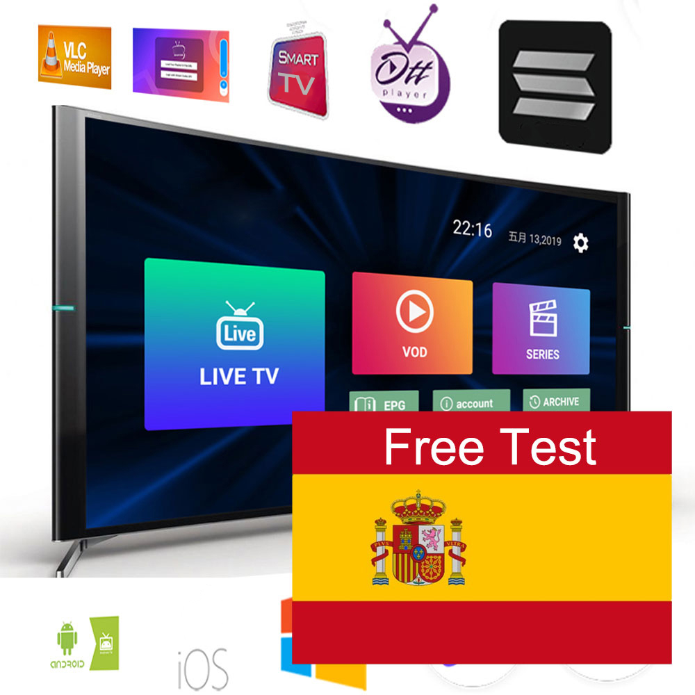 1 Year Spain IPTV m3u Subscription With Spanish Portugal Dutch Channels enigma2 code VLC Smart TV Box Android Phone TV Box