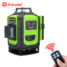 Fukuda Rotary Laser Level 360 16 Lines 4D Green Beam Cross Line Laser leveler Self-Leveling