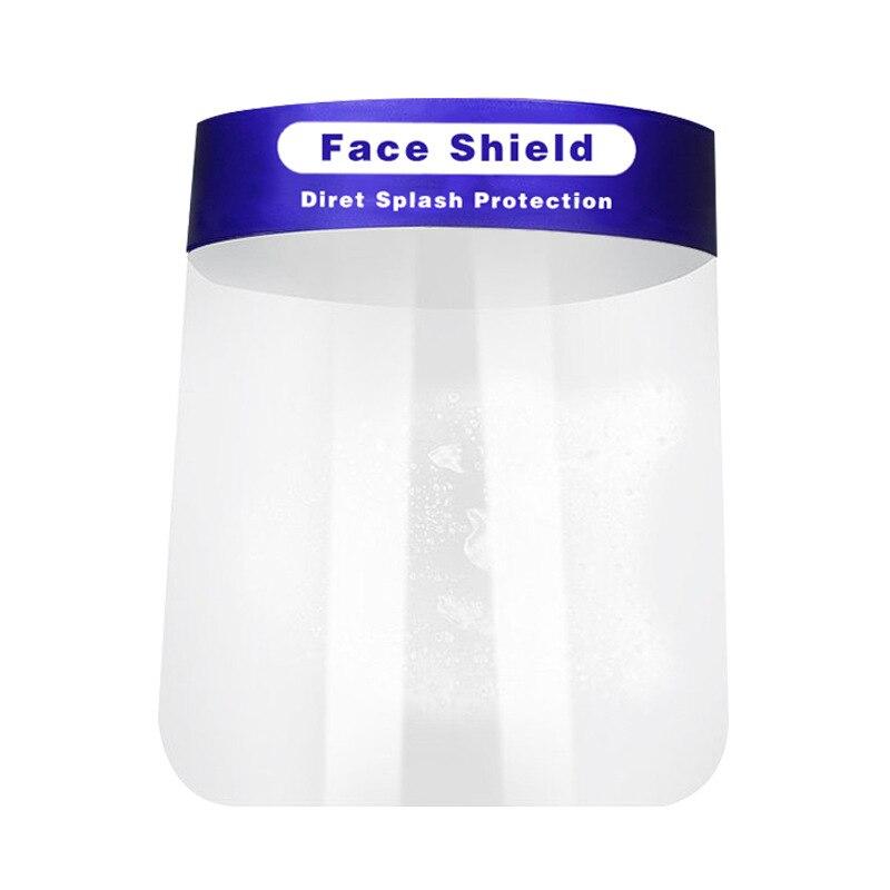 1000pcs Protective Mask Face Shield PET Isolation Panel Anti-fog Anti-splash Safety Mask CE FDA Certification Fast Shipping