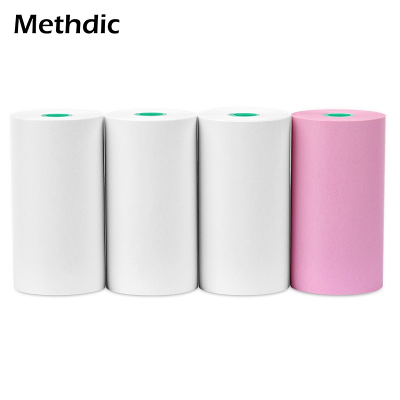 Methdic Three White And One Color 57 X 30mm Cash Register Roll Paper For POS / ATM