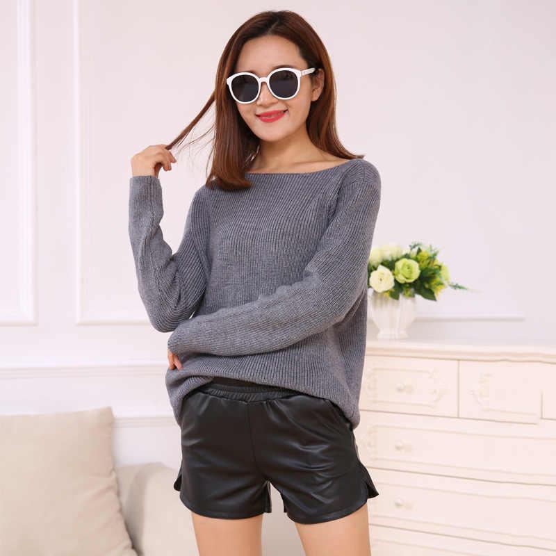 2018 ฤดูใบไม้ร่วงและฤดูหนาว Leggings สตรีขนาดใหญ่ PU หนังกางเกงสไตล์เกาหลีสไตล์ Slimming Boot กางเกงแฟชั่นทอ Nap