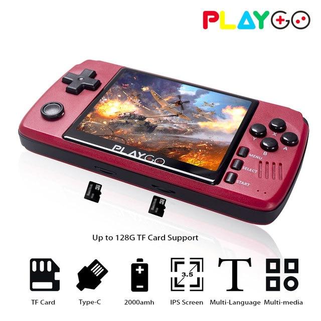 Red Playgo 3.5 calowy ekran przenośna przenośna konsola do gier z 16GB kartą SD wbudowana konsola kieszonkowa emulatora gier