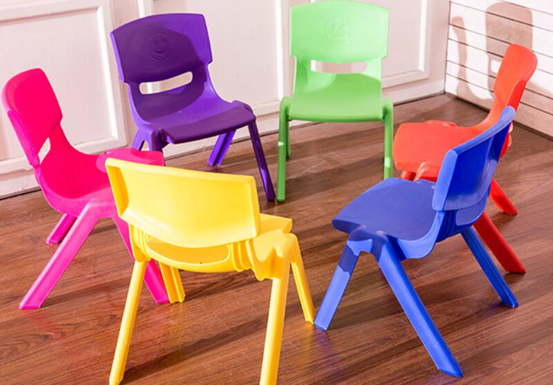 Wholesale 30cm Seat Height Kindergarten Chairs Children Safety Back-rest Chair Thicken Small Stool