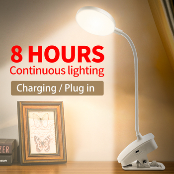 Desk Reading Light Led Table Lamp USB portable Lampara Dimmable Led Desktop Study Light Rechargeable Clip Bedside Night Led Lamp 2016 creative pyramid led night light lamp ac 100 240v 4w usb rechargeable led desk light touch dimmable table lamp
