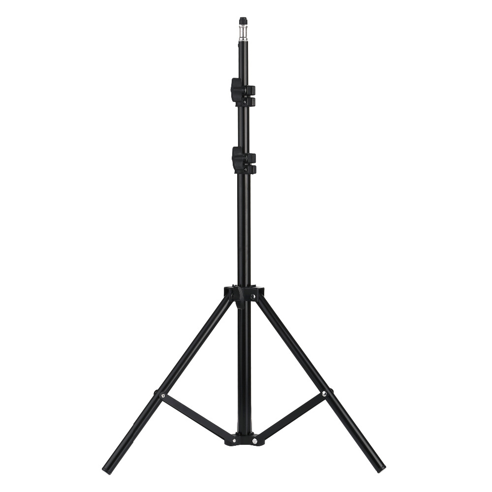 H836bfde526a64cba9d7d429b764125e68 110 160 200cm Photography Tripod Light Stands For Photo Studio Relfectors Softbox Lame Backgrounds Video Lighting Studio Kits