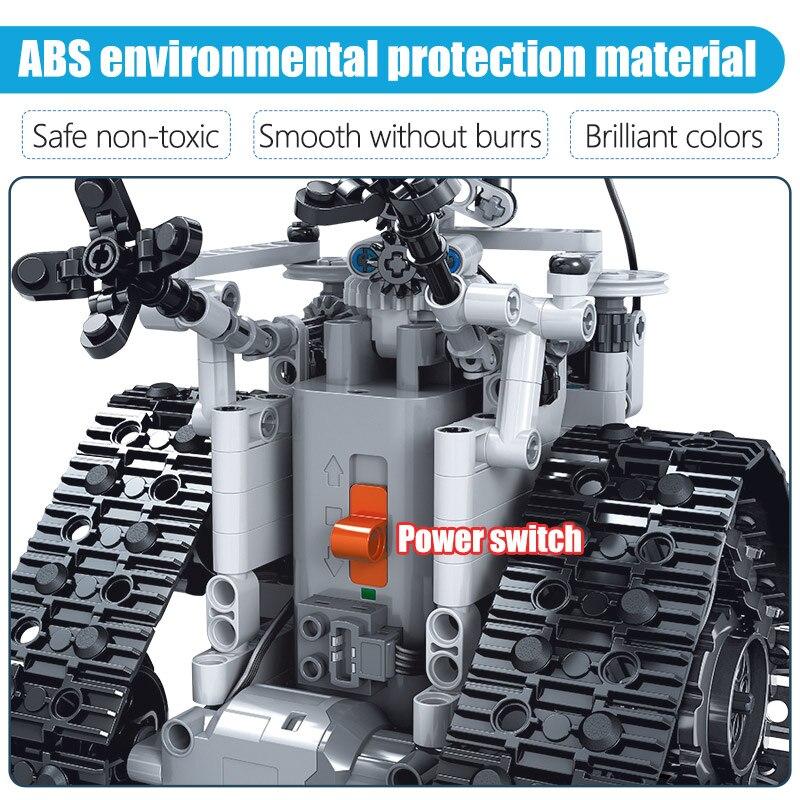 ZKZC 408PCS City Creative RC Robot Electric Building Blocks Technic Remote Control Intelligent Robot Bricks Toys For Children 5