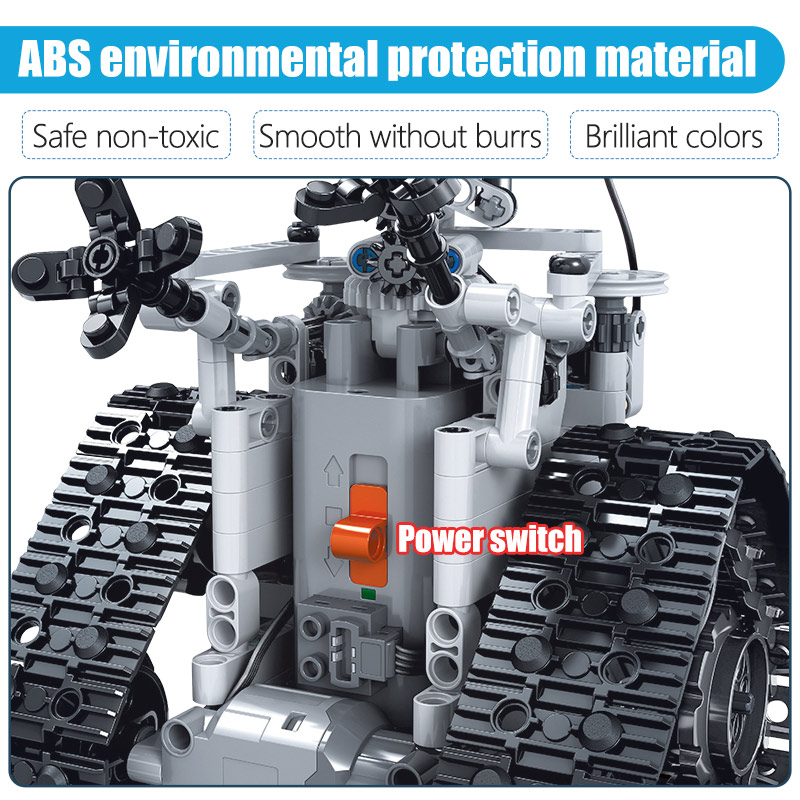 ZKZC 408PCS City Creative RC Robot Electric Building Blocks high-tech Remote Control Intelligent Robot Bricks Toys For Children Remote Control Toys cb5feb1b7314637725a2e7: Without box