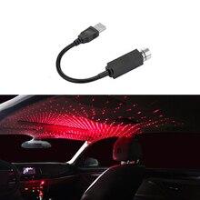 Luz de ambiente para coche, proyector de luz LED Universal para techo de coche, luz de noche, Lámpara decorativa, luces de ambiente