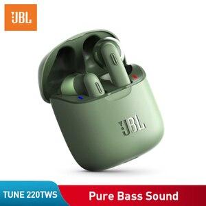 Оригинальные наушники JBL Tune 220TWS Bluetooth V5.0, беспроводные наушники-вкладыши с стерео микрофоном и зарядным устройством T220 TWS Handsfree