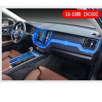 Wnętrze samochodu klimatyzacja panel sterowania TPU filmów naklejki dekoracyjne dla Volvo XC60 2018 2019 akcesoria samochodowe w Naklejki samochodowe od Samochody i motocykle na
