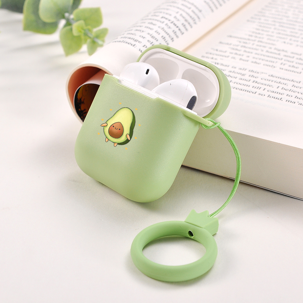 Candy Colors Soft Silicone Case For Apple Air Pods 1 2 Case For AirPods 1 2 Shockproof Earphone Protective Cover Without Lanyard