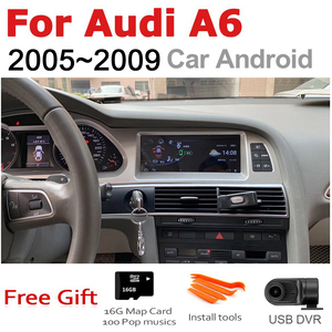 Image 2 - Car Radio 2 din GPS Android Navigation For Audi A6 4F 2005~2009 MMI AUX Stereo multimedia touch screen original style radio