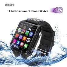 Kinder Smart Uhr 4G GPS Tracker Dual Kamera Wasserdichte Whatsapp Facebook Video Anruf Spielen Musik Kinder Smart Uhr Große batterie