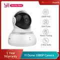 Купольная 1080p видеокамера YI Управление панорамированием и наклоном Двусторонняя аудиосвязь Отслеживание движения Baby