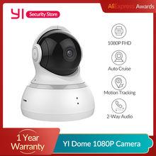 Yi dome câmera 1080p visão noturna ip sem fio sistema de vigilância segurança em casa cobertura de 360 graus pan/tilt/zoom versão global