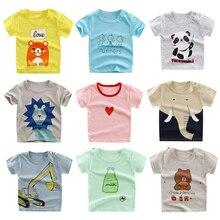 Luna Blanco/летние футболки для мальчиков и девочек от 6 месяцев до 4 лет хлопковая футболка с короткими рукавами для малышей футболки с круглым вырезом и рисунком для маленьких девочек детская одежда