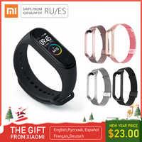Original tout neuf Xiao mi mi bande 4 Bracelet mi bande 4 Bracelet de Fitness 3 couleurs AMOLED écran musique contrôle Smartband