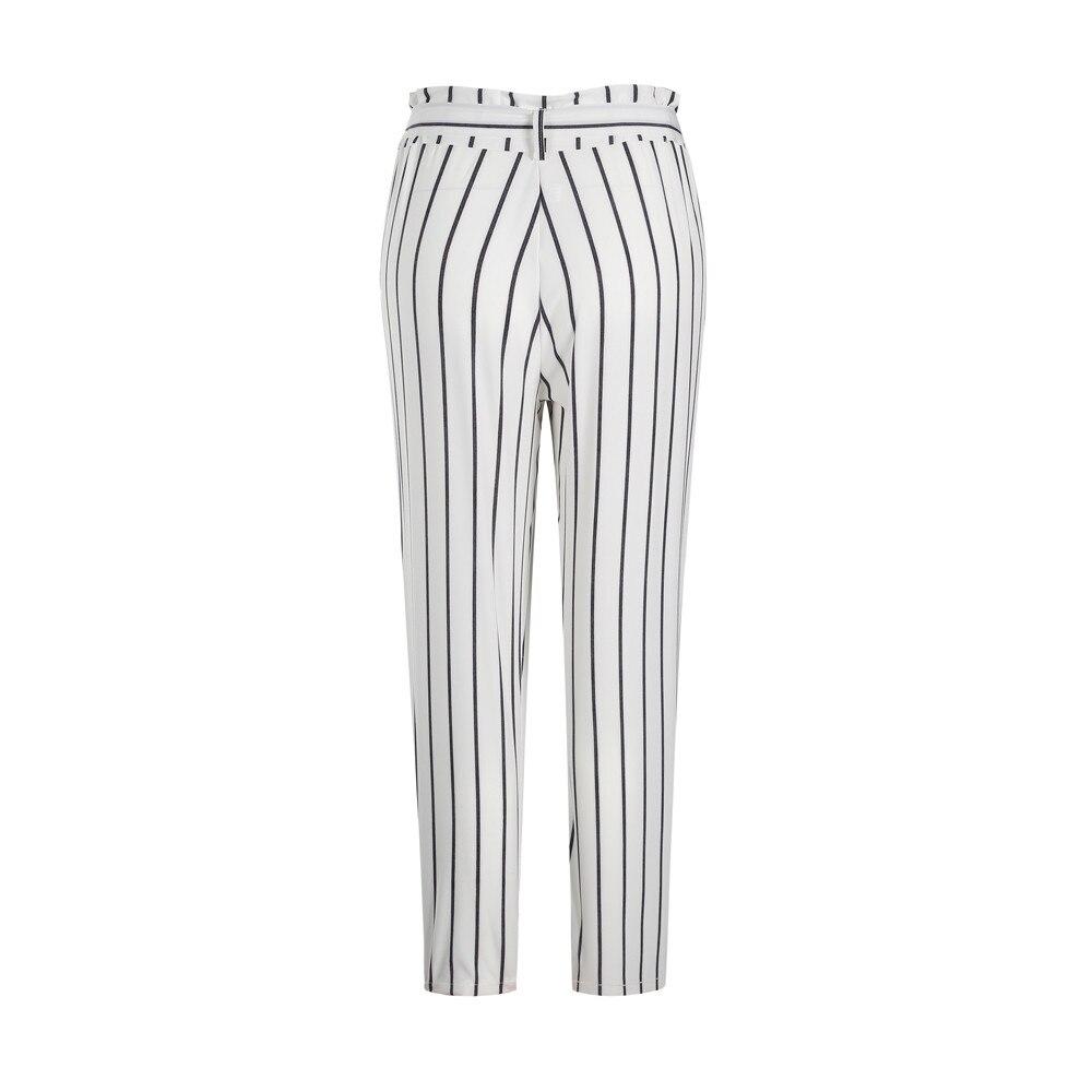 Women's Striped Long Jeans 26