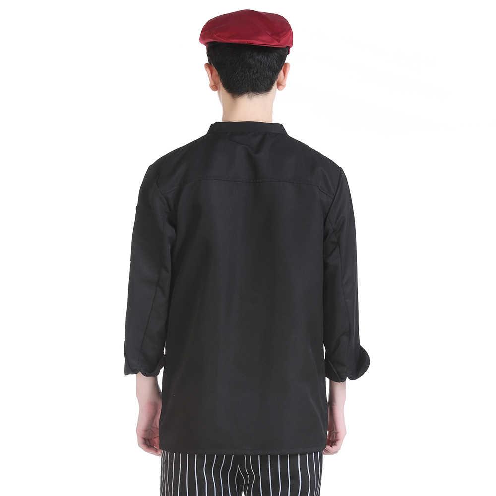 Отель высокого качества Униформа с длинными рукавами удобная и дышащая Повседневная рубашка кафе западный ресторан запеченные товары Куртка поварская