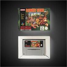 Donkey Country Kong wersja EUR karta do gry RPG oszczędzanie baterii dzięki opakowanie detaliczne